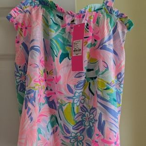 Lilly Pulitzer Jia Top It Was All a Dream XS